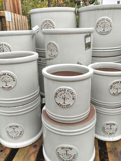 Heritage cylinder pot - White. Prices from:
