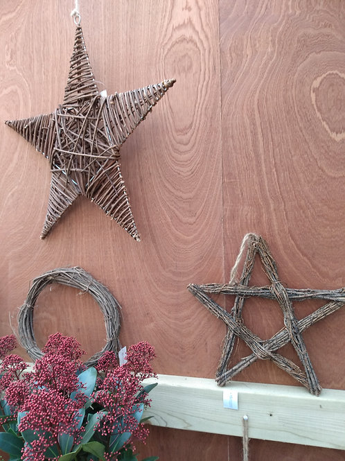 Twig or rattan stars and wreaths. From: