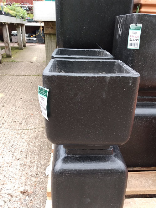 Square pot. W23xH23. Two for £15.