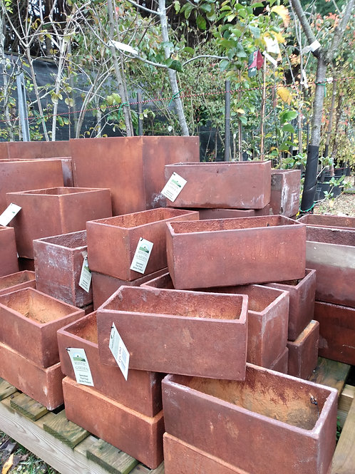 Rusty terracotta troughs. Prices from: