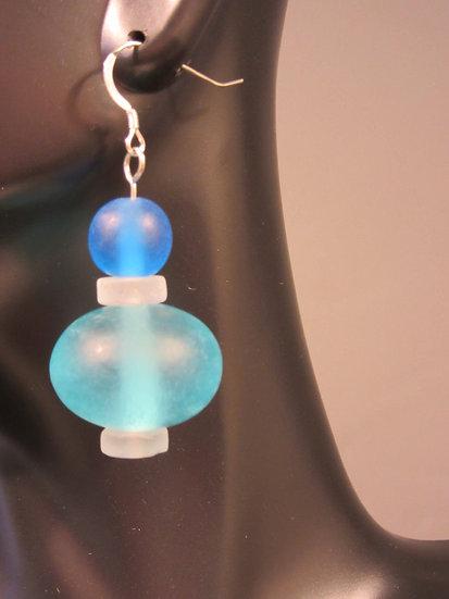 Blue fantasy earrings