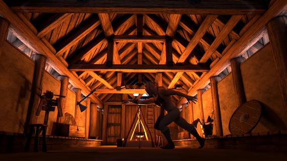 Viking Longhouse - Interior