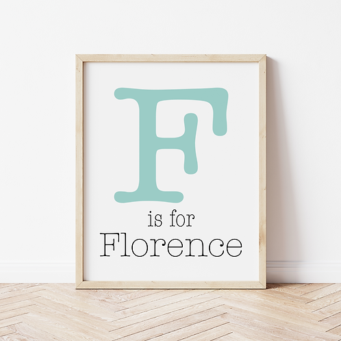 """""""A is for..."""" Name Print"""