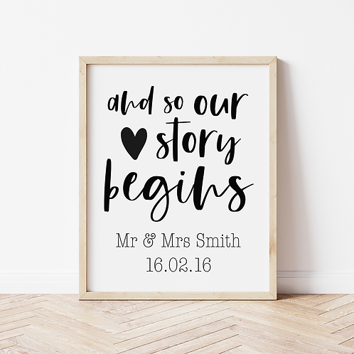 """""""our story begins"""" Print"""