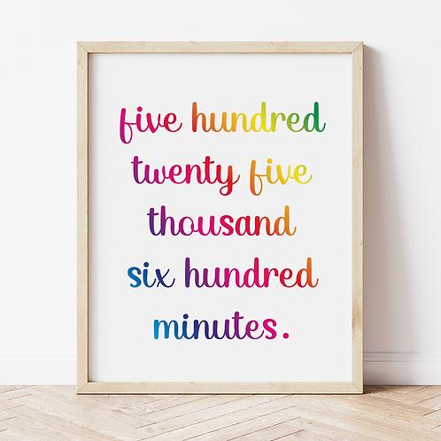 """seasons of love"" Print"