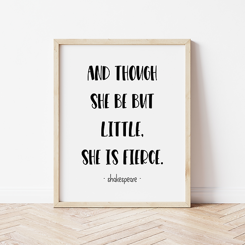 """she is fierce"" bold print"