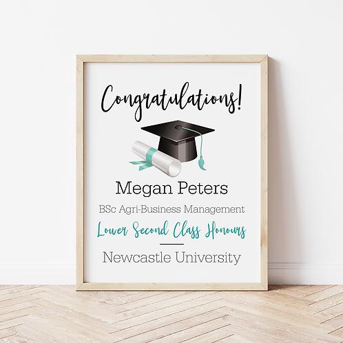 'Congratulations!' Graduation Print