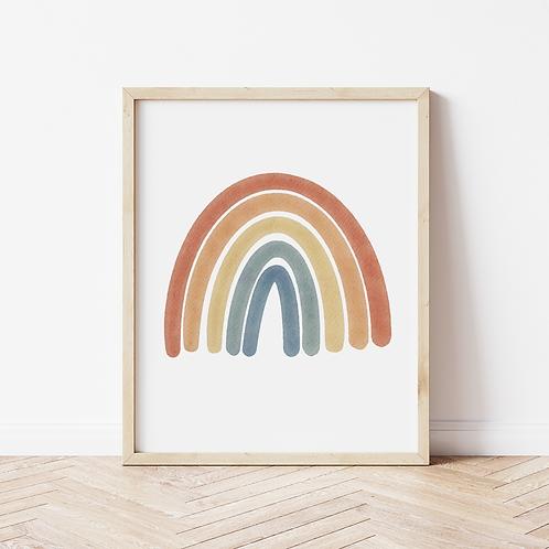 Muted Rainbow Print