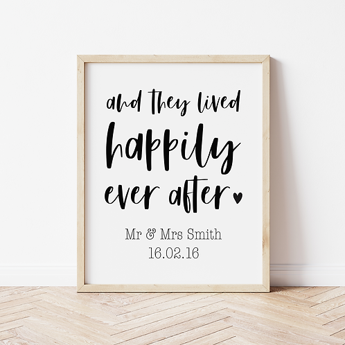 """""""happily ever after"""" Print"""