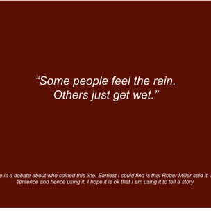 Feeling The Rain And Living Life With Heart