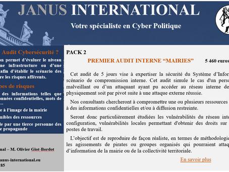 """Pack 2 - Premier Audit Interne """"Mairies"""""""