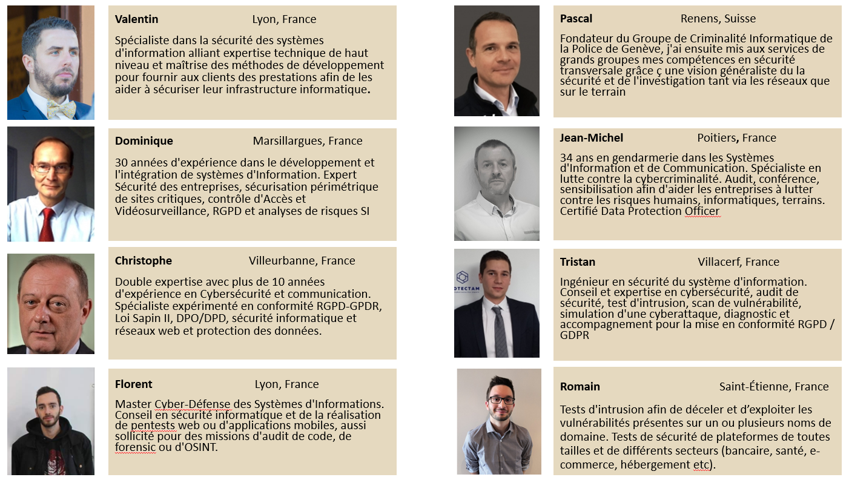 Une selection de 8 experts en Cybersécurité