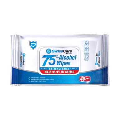 Antibacterial Alcohol Wipes - 50 Pack