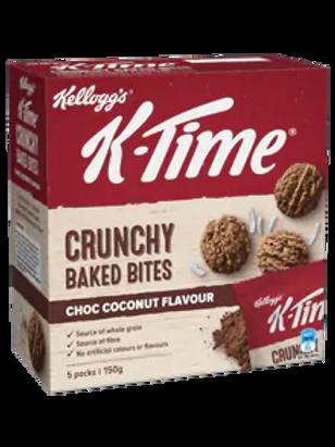 Kellogg's K-Time Crunchy Baked Bites Chocolate Coconut 5 x 150g