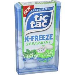 Tic Tac X-freeze Spearmint 12pk