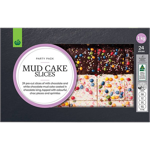 Woolworths Party Pack Mud Cake Slices 24 pack
