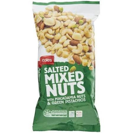 Coles Salted Mixed Nuts 375g