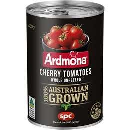 Ardmona Cherry Tomatoes Whole Unpeeled 400g