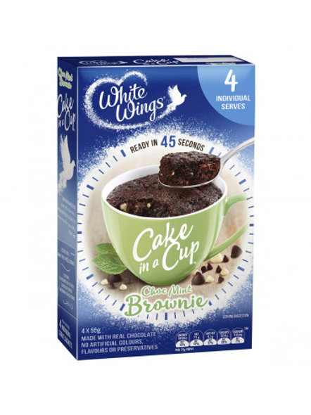 White Wings Cake In A Cup Choc Mint Brownie 220g