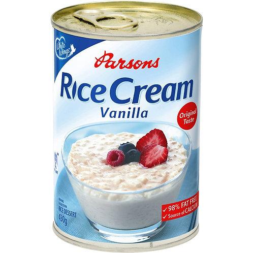 Parsons Vanilla Creamed Rice 98% Fat Free 430g