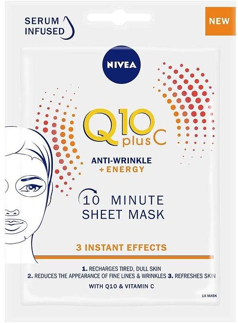 Nivea Q10 Plus C Anti Wrinkle + Energy Sheet Mask