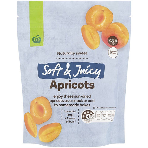 Woolworths Soft & Juicy Apricots 250g