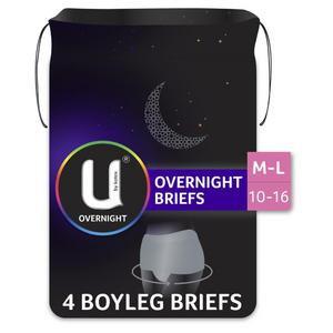 U By Kotex Feminine Briefs Overnight Grey