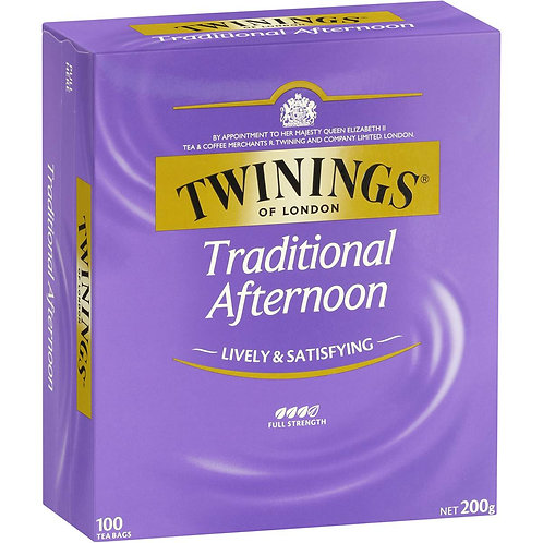 Twinings Traditional Afternoon Tea Bags 100pk 200g