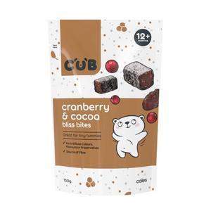 Cub Bliss Bites Cranberry & Cocoa