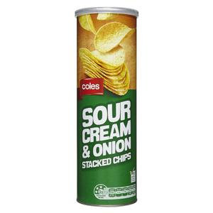Coles Sour Cream & Onion Stacked Chips