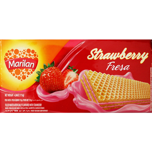 Marilan Strawberry Wafer Biscuits 115g