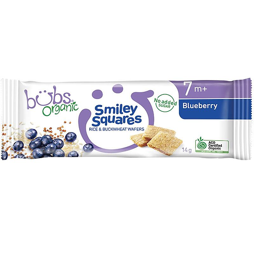 Bubs Organic Smiley Squares x 14 Pack