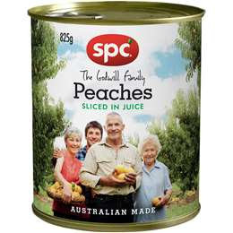 SPC Peaches Sliced In Juice 825g