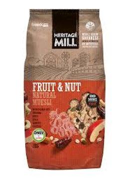 1kg Heritage Mill Fruit & Nut Muesli