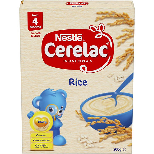 Nestle Cerelac Baby Cereal Rice 200g