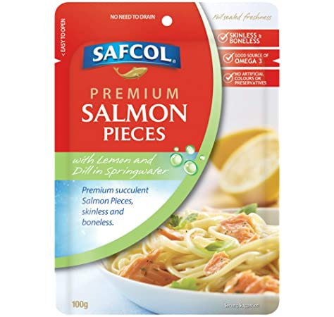 Safcol Salmon Lemon & Dill In Springwater 100g