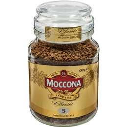 Moccona Freeze Dried Instant Coffee Classic Medium Roast 100g
