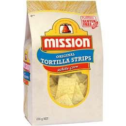 Mission Tortilla Strips White Corn 230g