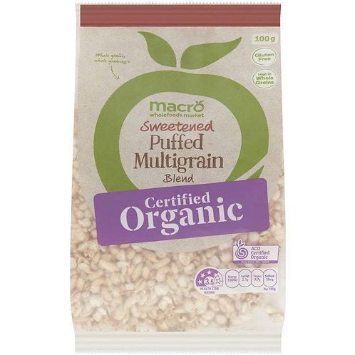 Macro Organic Sweetened Puffed Multigrain Blend 100g