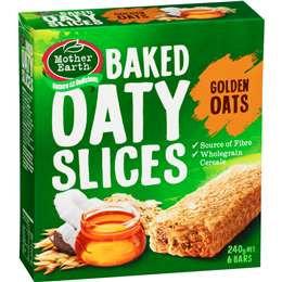 Mother Earth Baked Oaty Slices Golden Oat  240g