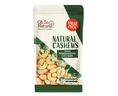 Oh So Natural Cashews 250g