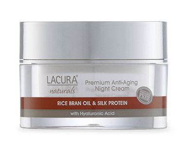 LACURA® Naturals Anti-Aging Night Cream with Rice Bran Oil & Silk Protein 50ml