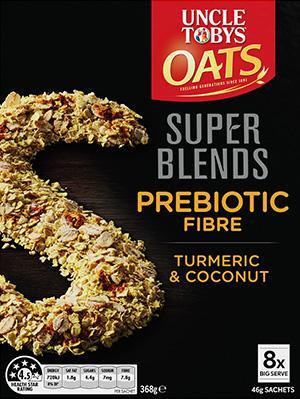 Oats Super Blends Prebiotic Fibre Turmeric, Coconut 8pk