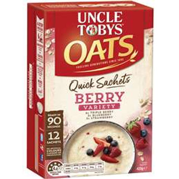 Uncle Tobys Berry Oats Quick Sachets 340g
