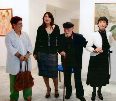 Con Celedonio Perellón en su última exposición.