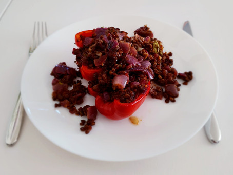 Spicy Stuffed Red Peppers