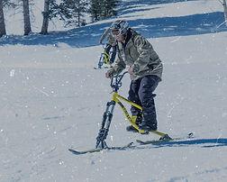ski bike on snow