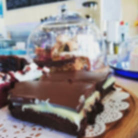 Grasshopper brownie today, or chocolate