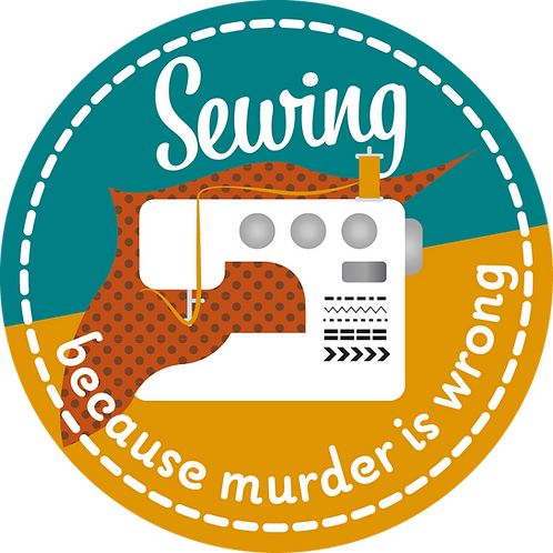Sticker Sewing, because murder is wrong