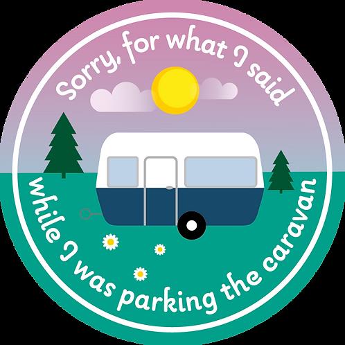 Sticker Sorry for... caravan